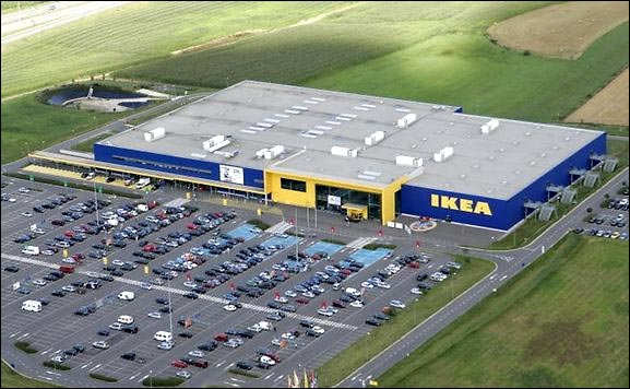 Le magasin IKEA à Arlon, Belgique